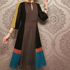 BCBG MaxAzria RUNWAY pleated dress